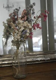 Trockenblumen Shabby Chic getrockneter Rittersporn
