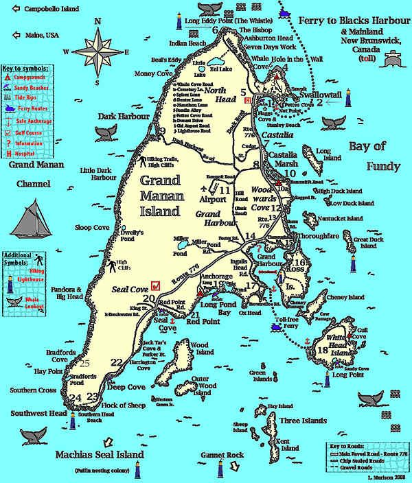 Grand Manan Island Map