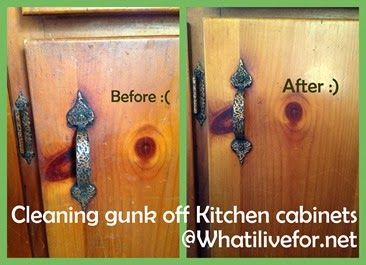 Clean kitchen cabinets with 2 ingredients!