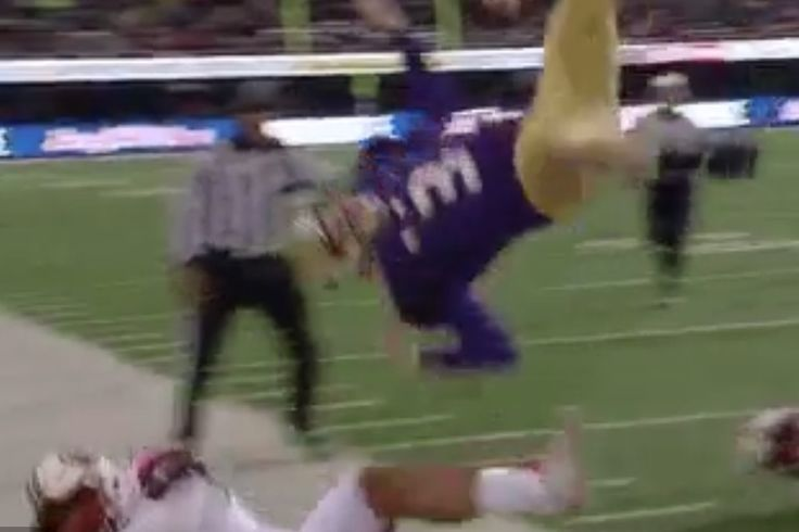 Washington's QB got brutally helicoptered, then led *two* clutch drives in two minutes to beat Utah