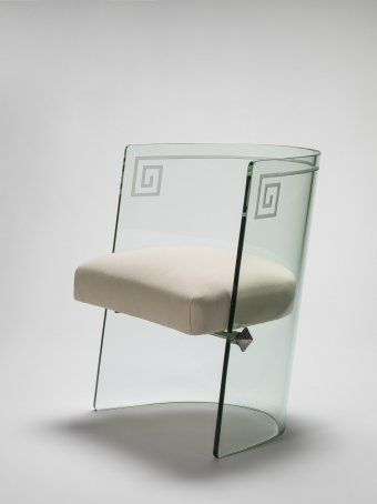 Glass Chair, Henry H. Turchin (designer), probably designed under the direction of Louis Dierra, Pittsburgh Plate Glass Company, Pittsburgh, Pennsylvania, about 1939 | Corning Museum of Glass