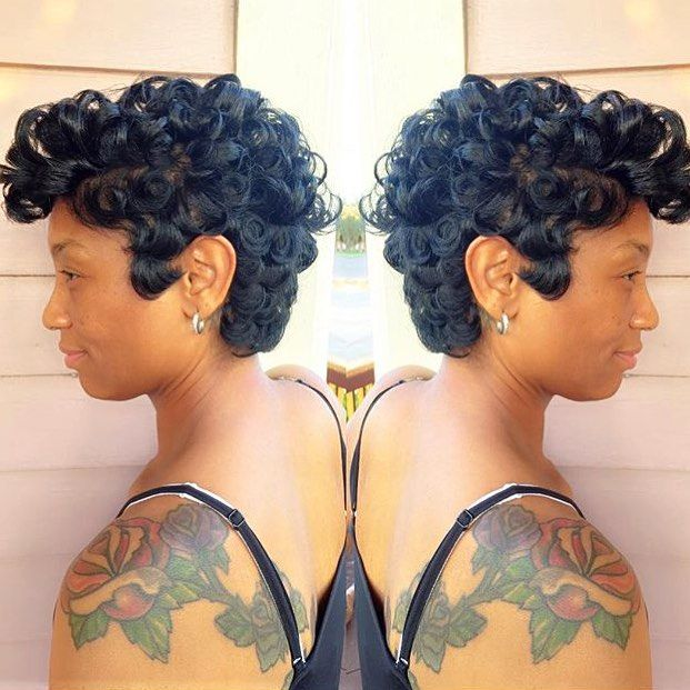 STYLIST FEATURE| Love this curly➰ #pixiecut ✂️done by #NewOrleansStylist Nakia at @FriendsSalonNola GORGEOUS❤️ #VoiceOFHair ======================= Go to VoiceOFHair.com for more hair inspiration! ========================