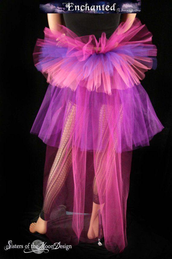 Cheshire Cat inspired beautiful burlesque tie on bustle-- FELISHA