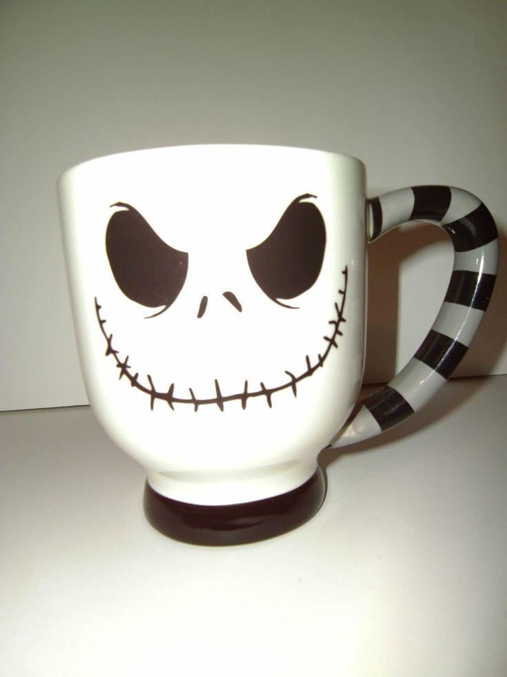 New Jack Skellington Nightmare Before Christmas Mug Large - Authentic Disney