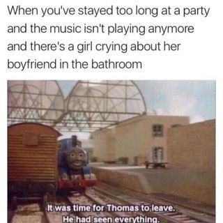 Yes time for Thomas to leave! LOL