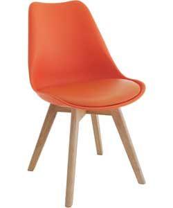 Habitat Jerry Orange Dining Chair.