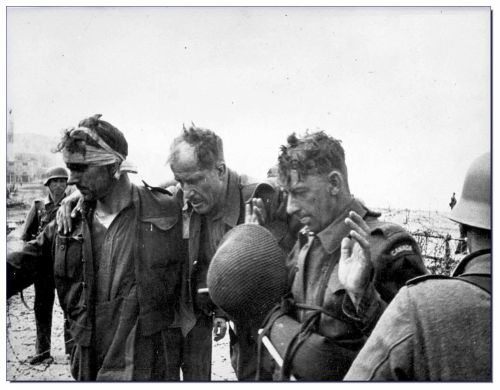 Canadian POWs after the Dieppe Raid, august 1942
