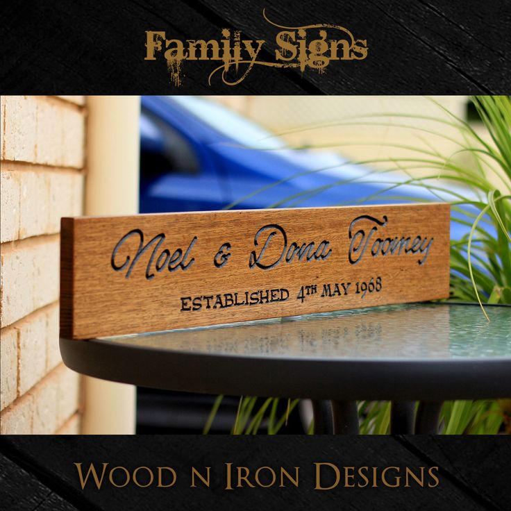 Tasmanian Oak personalised Family sign.