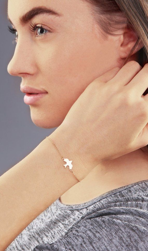 Layering Bracelet Delicate Origami Bird Bracelets,Delicate Bird bracelet,Bird bracelets,Bridesmaid gift,initial bracelet