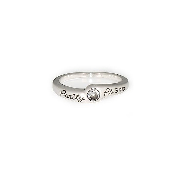 Christian Purity Rings > Bobsiemon > Psalms 51:10 Purity Ring >... ($42) ❤ liked on Polyvore