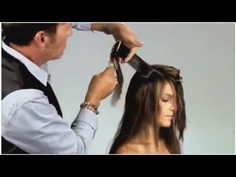 How To Cut Perfect Face Framing Layers for Longer Hair - V-Shaped Layers - YouTube