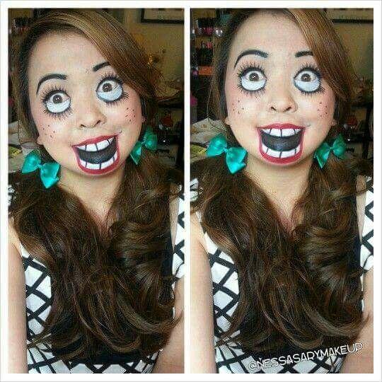 Maquillage poupée ventriloque.
