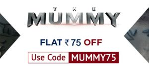 Ticketnew  Get flat Rs.75 discount on booking tickets for The Mummy movie