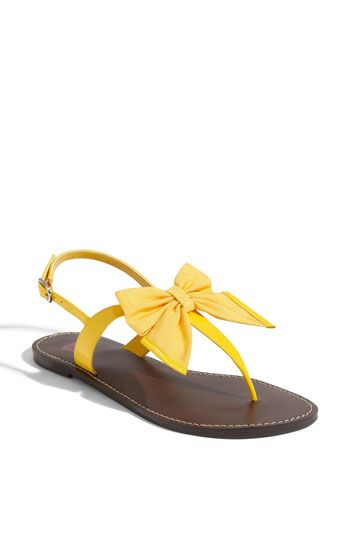 42aad9a3cab Nordstrom sandals -- love the yellow   the bow!