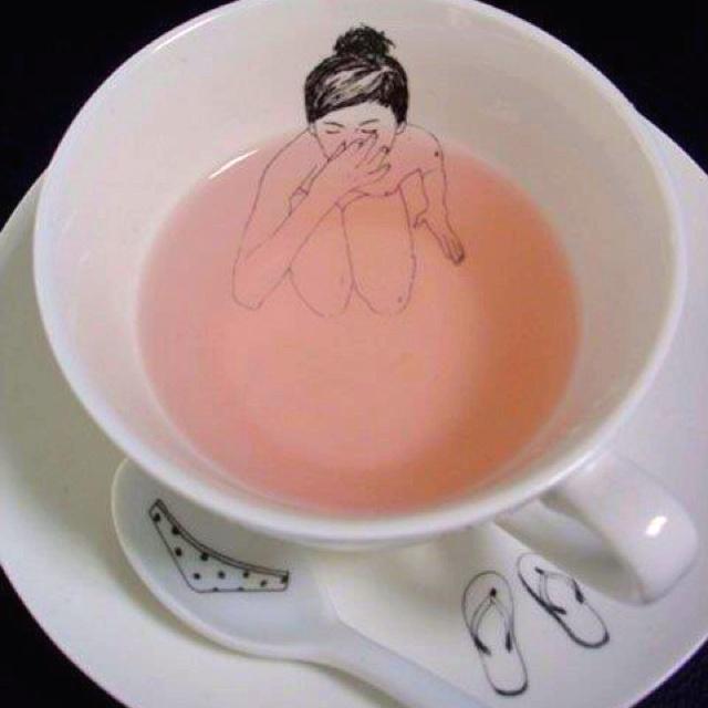Skinny Dipping Tea Cup