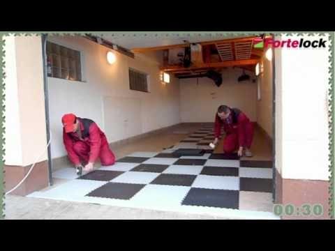 Fortelock PVC-Fliesen - Der Boden für Garage, Werkstatt & Co.