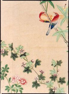18th Century handpainted wallpaper from China in Museum Amelisweerd- Utrecht