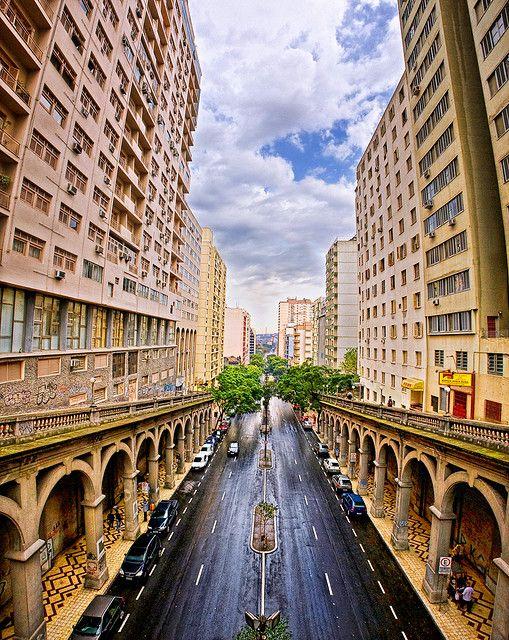 Avenida Borges de Medeiros, Farroupilha, Porto Alegre, Rio Grande do Sul, Brazil