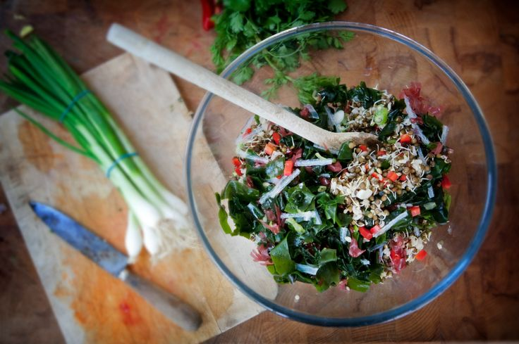 Deeply Nourishing Seaweed and Sprout Salad