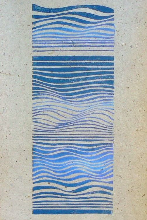 Waves linocut relief print | Etsy and Waves