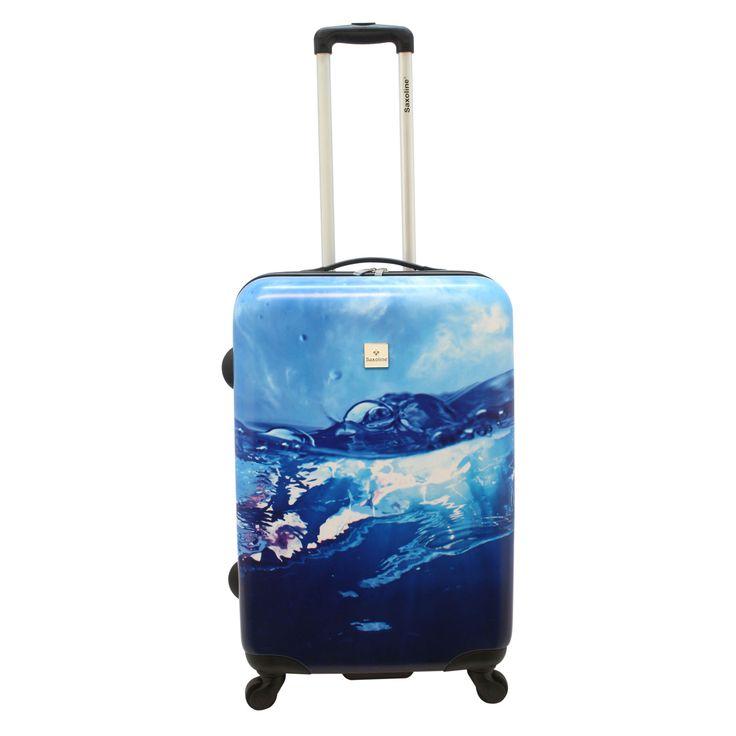 Mittlerer #Koffer Saxoline #Water bei Koffermarkt: ✓blaues Wasser-Motiv ✓4 Rollen ✓ABS-Polycarbonat-Hartschale ✓67x47x26 cm