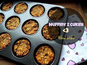 Fitblog. Odchudzanie, przepisy, motywacja.: Niskokaloryczne muffiny z cukini