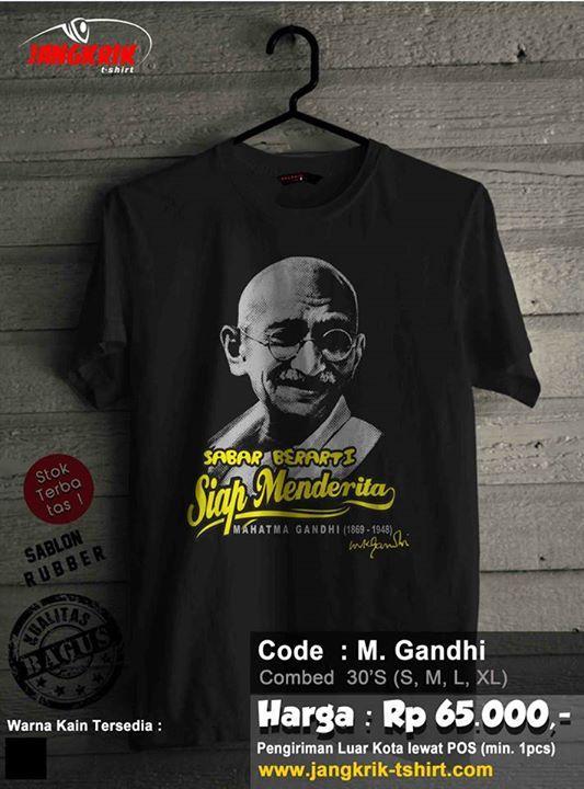 Kaos Mahatma Gandi.  Info order 0877.3862.6309 - BBM 52820605
