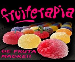 Fruiterapia || Delicias de fruta - Bolsa 2Kg.  Elaboradas con pectina y un 10% de fruta natural.    Sabores: Limón verde ácido, fresa, cereza, zarzamora, melocotón, plátano, mandarina, piña, arándanos, pomelo, limón, frambuesa, manzana, naranja, mango, melón, pera, sandia, frutas del bosque, albaricoque, ciruela y kiwi.