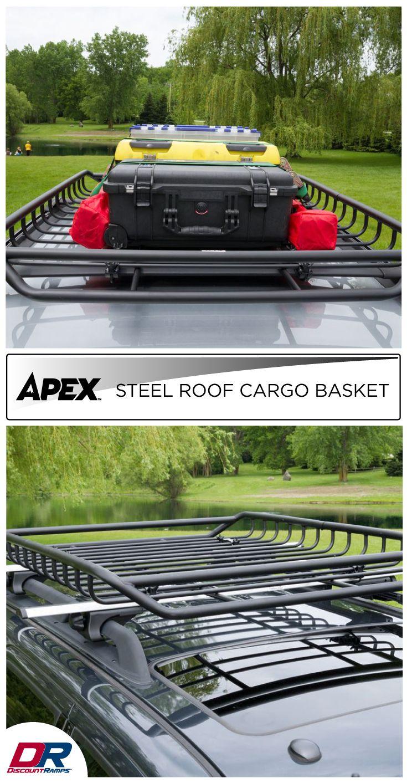 Apex Steel Roof Cargo Basket 52 1 2 Roof Rack Basket Truck Roof Rack Cargo Roof Rack