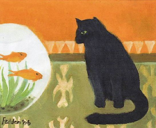 Mary Fedden. Watching Fish