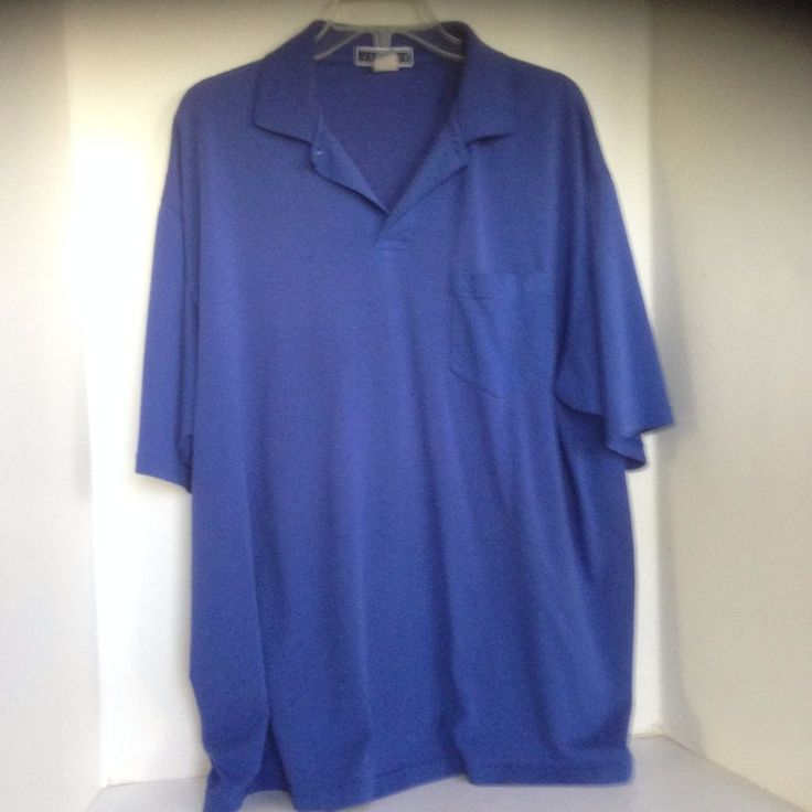 Jerzees polo XL Royal Blue Short Sleeve Shirt Cotton Blend, Solid #JERZEES #PoloRugby