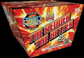 The Redder The Better 25 Shot | NCI, Inc. Indiana Fireworks Wholesale