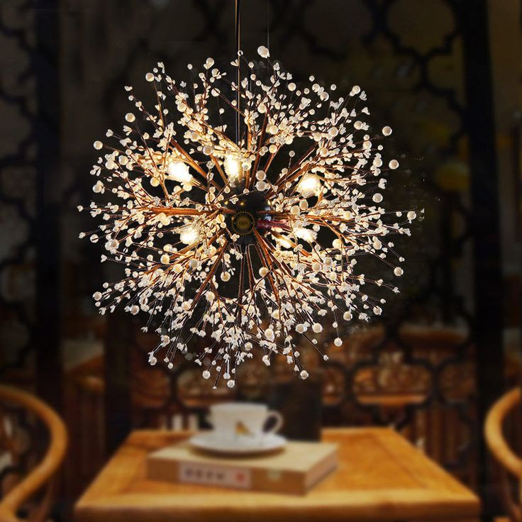 Modern Dandelion LED Chandelier Acrylic Fireworks Pendant Lamp Ceiling Lighting Chandeliers For Dining RoomModern