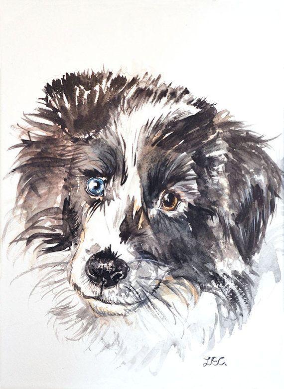 Huisdier portret op maat, A4, dier illustratie, origineel schilderij, portret op maat, kerstcadeau, huisdier cadeau