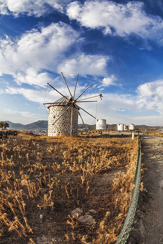 Windmills of Bodrum, Turkey