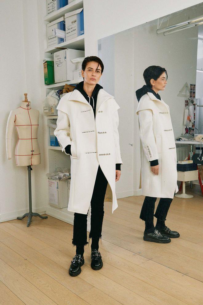 Manteau blanc Courrèges