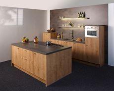 KeukenDeal - 60 - Nolte Chalet keuken met kookeiland, geheel compleet, inclusief Montage