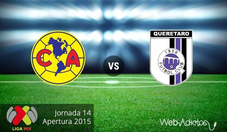 América vs Querétaro, Jornada 14 del Apertura 2015 ¡En vivo por internet! - http://webadictos.com/2015/10/24/america-vs-queretaro-apertura-2015/?utm_source=PN&utm_medium=Pinterest&utm_campaign=PN%2Bposts