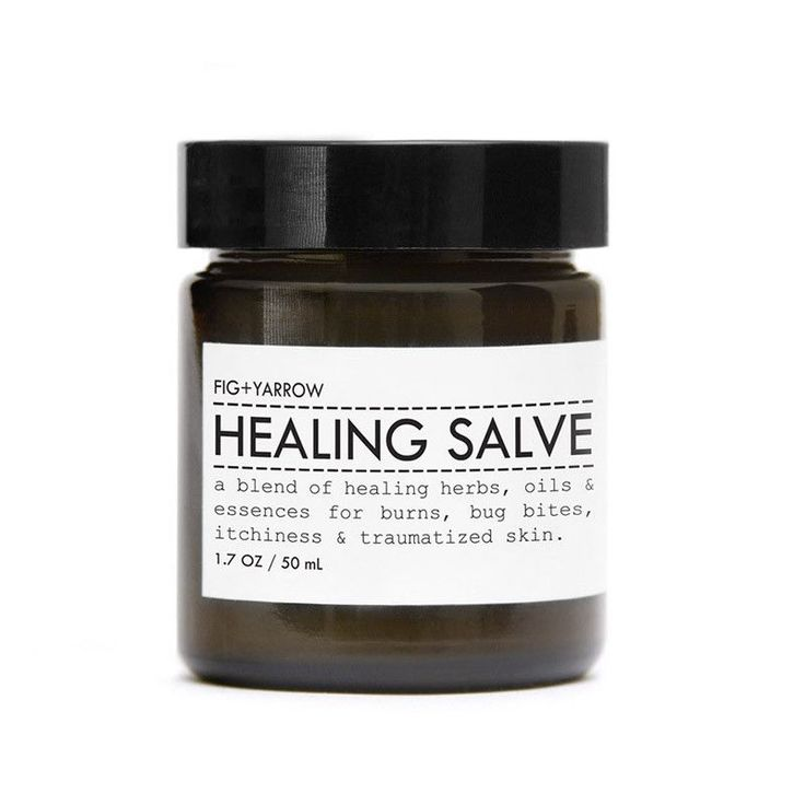 Healing Salve design by Fig and Yarrow  HEALING SALVE is a blend of healing herbs, oils + botanical essences for traumatized skin. KEY INGREDIENTS+ rosehip oil is exceptional for skin nourishment, repair and helps to minimize scarring.+ shea is highly nourishing, soothing and reparative with a proven ability to improve a number of skin maladies.+ marigold, comfrey, plantain, yarrow, st. john's wort, echinacea, marshmallow, goldenseal and chickweed help to calm itchy skin and provi..