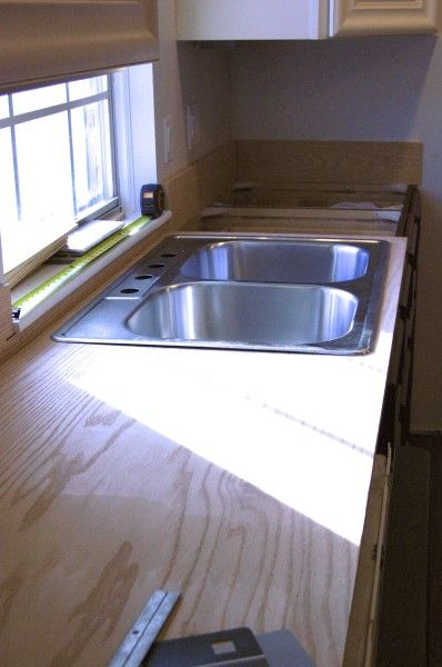 plywood countertops kitchen