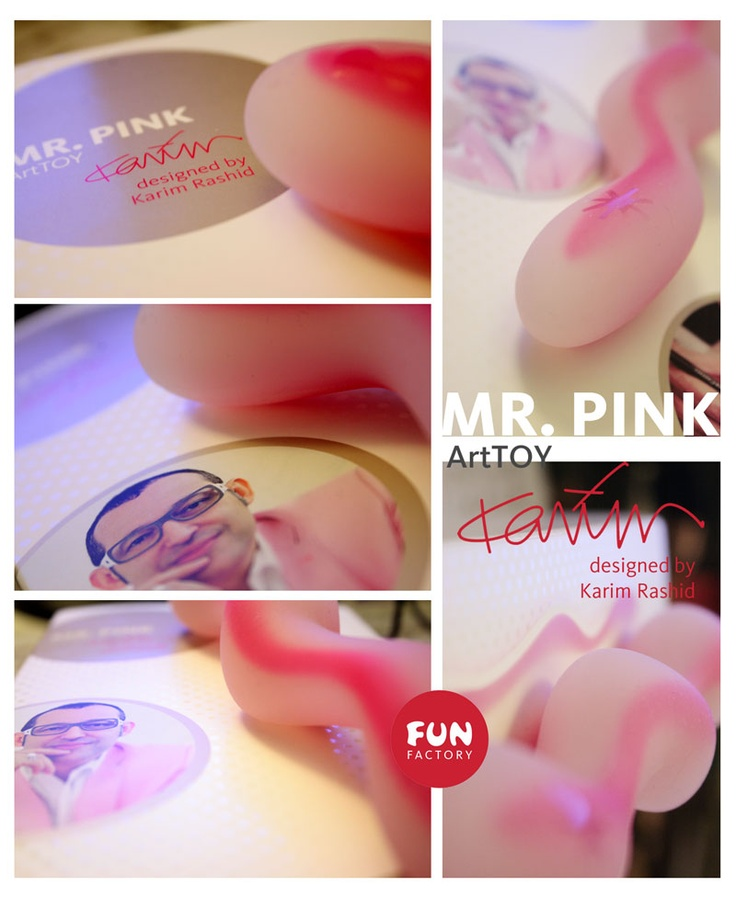 Karim Rashid has designed a sex toy for Fun Factory - sweet looking, lovely and joyful dildo Mr. PINK!