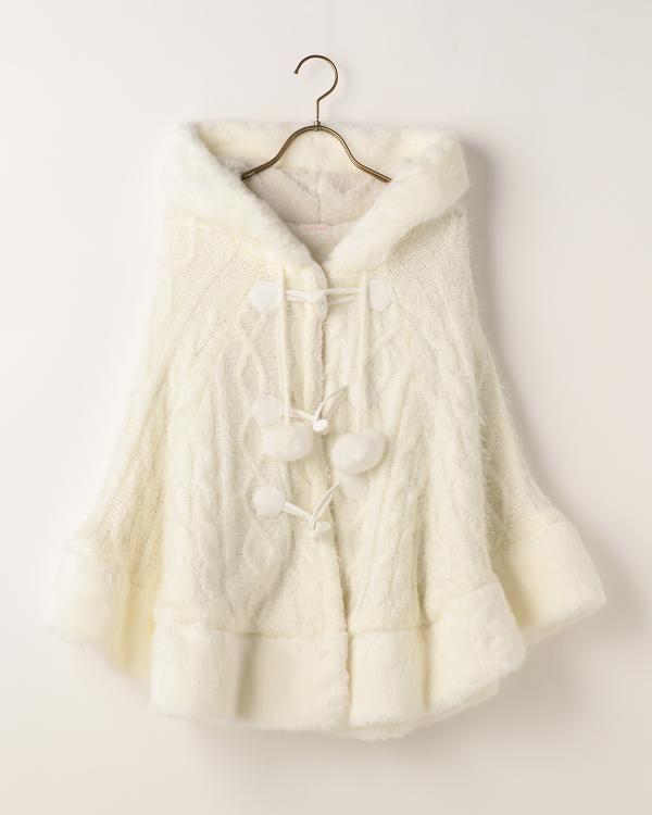 裏ボアニットポンチョ|渋谷109で人気のガーリーファッション リズリサ公式通販