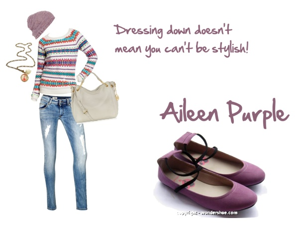Don't really feel like dressing up? No worries, Aileen Purple keeps you fashionable no matter what you wear :)