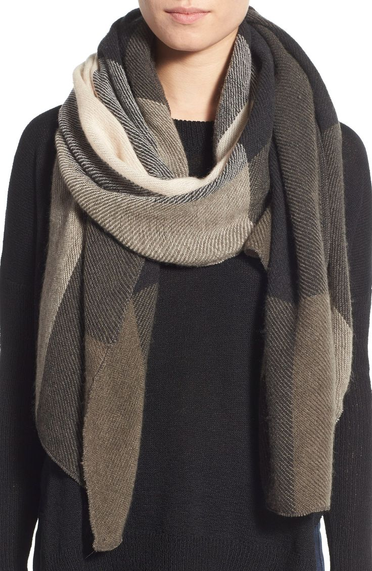this plaid BP. scarf is essential. such natural nudes and lively greens! they pair together perfectly. @nordstrom #nordstrom