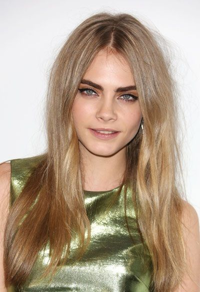 Cara Delevigne's is the supermodel queen of brows - striking complement to her blue eyes