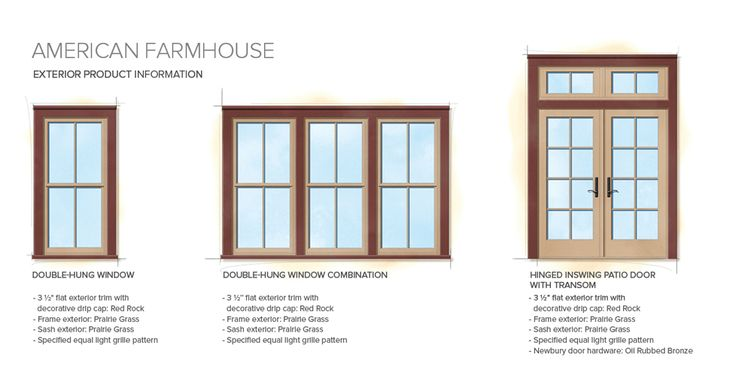 American farmhouse home style exterior window door details for Window design new style