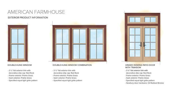 American Farmhouse Home Style Exterior Window Door Details New Home Pinterest Modern