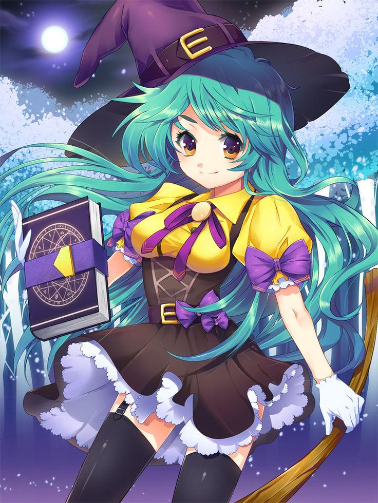 Witch by *Ellsat on deviantART Anime witch, Anime wizard