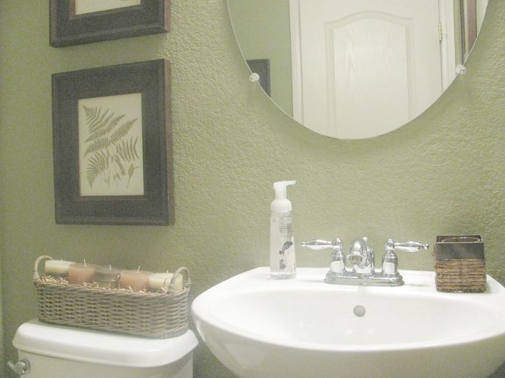very small cottage bathrooms | The candles smell really good. Always a plus in a bathroom.