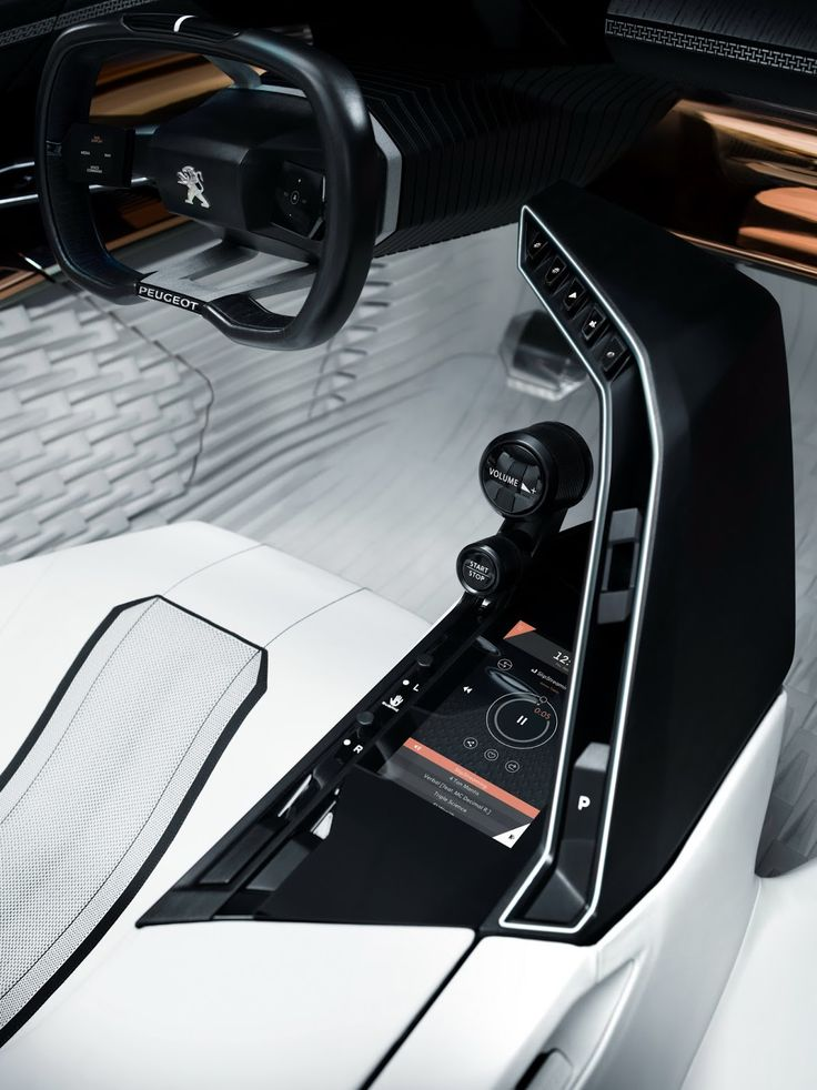 Peugeots New Fractal Coupe Hatch Convertible Concept In All Its Photo Glory Car Interior DesignInterior